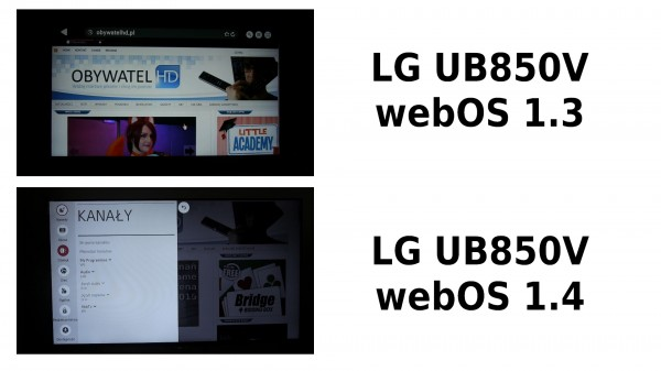 webOS 1.3 vs webOS 1.4