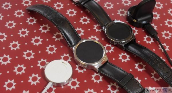 Huawei Watch vs Samsung Gear S2 - dwie ładowarki