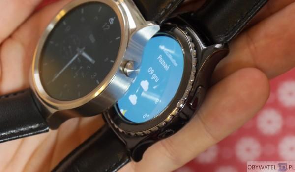 Huawei Watch vs Samsung Gear S2 - przyciski