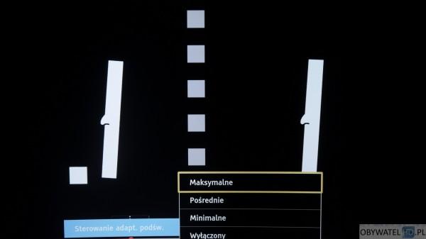 Panasonic CR730 - sterowanie adaptacyjne podświetlania maksymalne