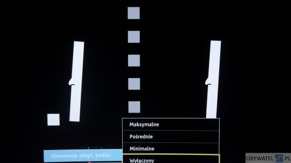Panasonic CR730 - sterowanie adaptacyjne podświetlania wyłączone