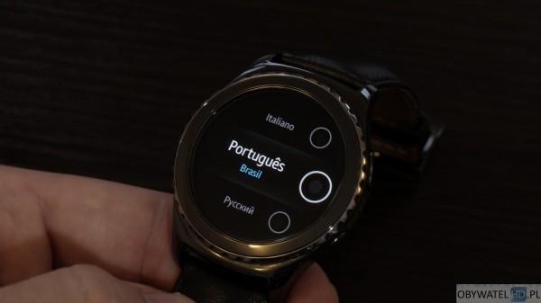 Samsung Gear S2 S Voice brak języka polskiego