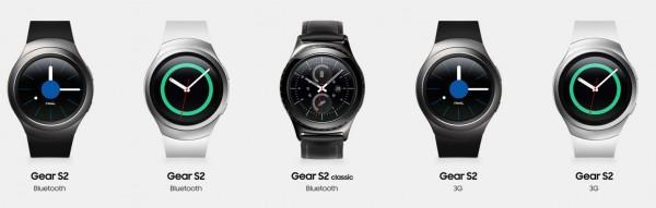 Samsung Gear S2 - wersje