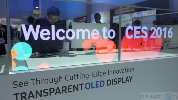 CES 2016 - Samsung - przezreoczysty OLED