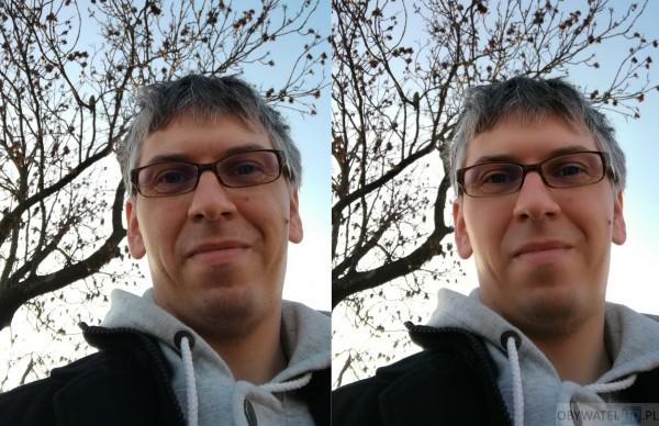 Huawei Mate 8 - aparat - cyfrowy makijaż w selfie