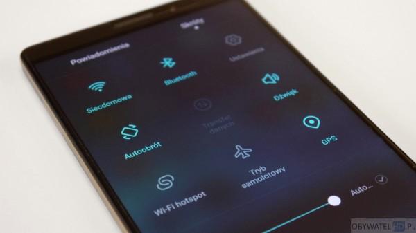 Huawei Mate 8 - górne menu