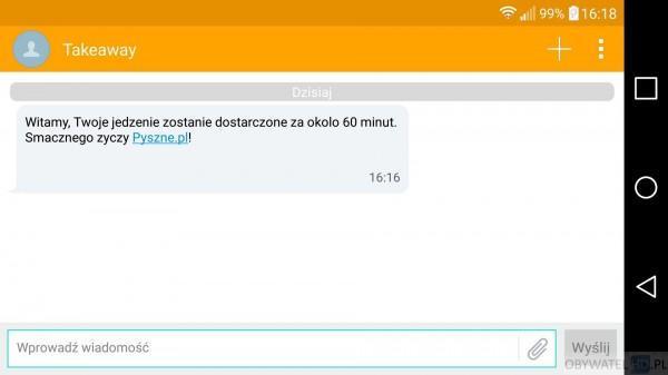 Pyszne.pl - SMS