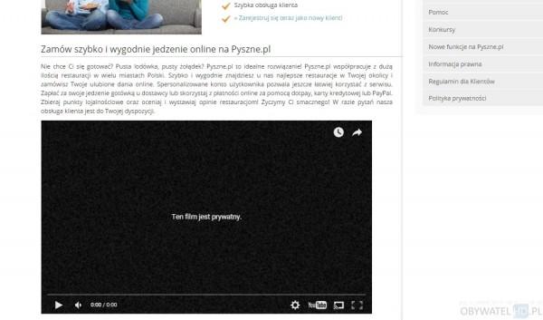 Pyszne.pl - prywatny film