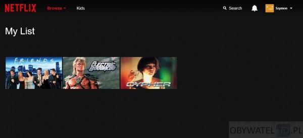 Netflix - My Lists