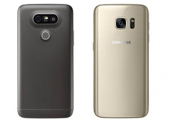 Samsung Galaxy S7 vs LG G5 tył