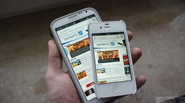 Samsung Galaxy Note II vs Apple iPhone 4S