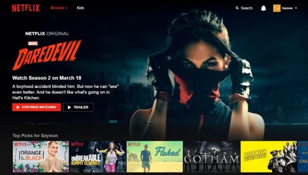 Netflix - strona główna