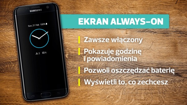 Samsung Galaxy S7 Edge - always on
