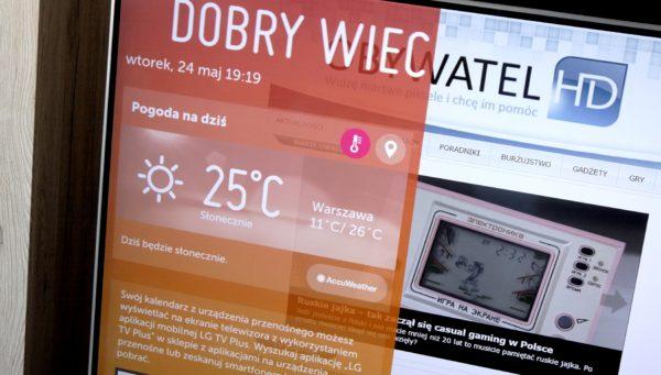 webOS 3.0 ekran startowy