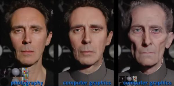 CGI Peter Cushing Rogue 1 Star Wars Story