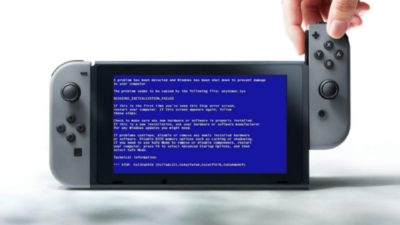 Nintendo Switch - blue screen