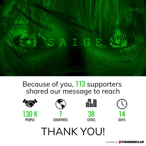 Zasięg kampanii Saige