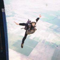 Adam Brożko - skok ze spadochronem